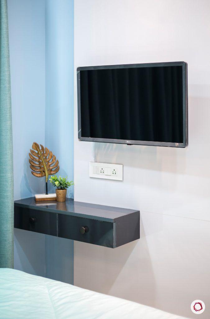 best interior designers in mumbai-bedroom-tv unit-compact tv unit