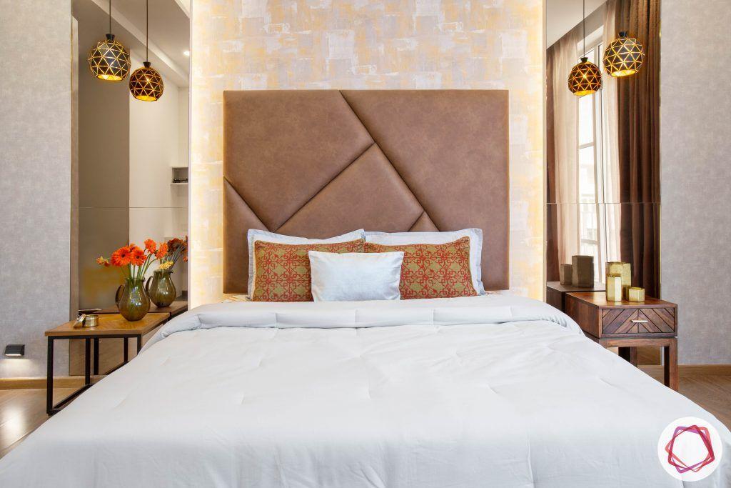 best interior designers in gurgaon-contemporary bedroom designs-headboard designs-wallpaper for bedroom