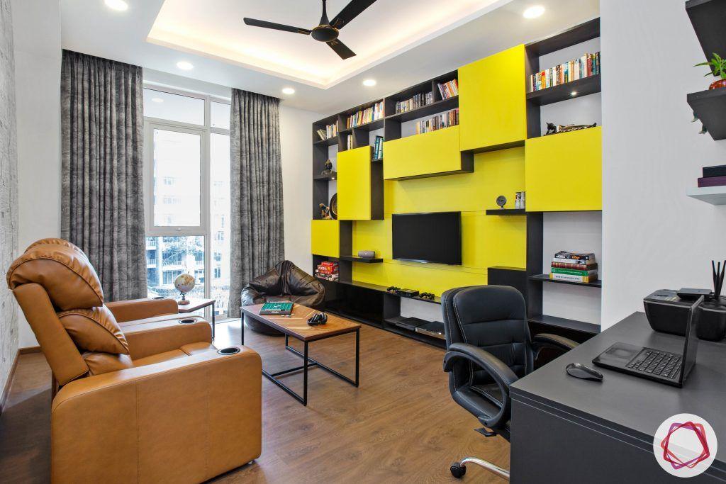 best interior designers in gurgaon-recliner designs-entertainment unit designs
