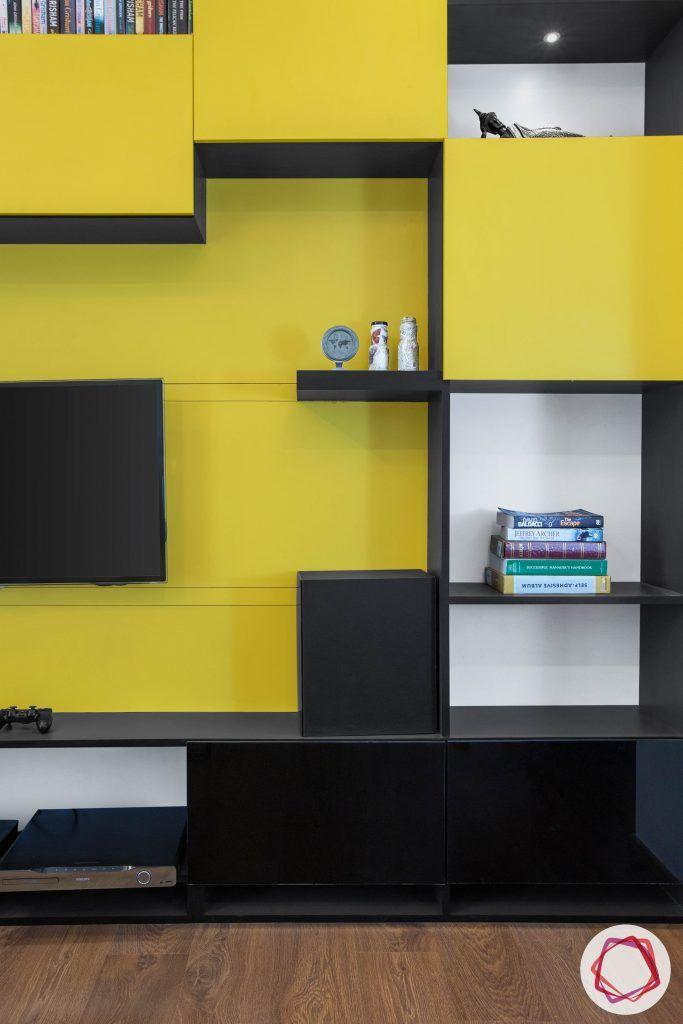 entertainment unit designs-book shelf cum TV unit