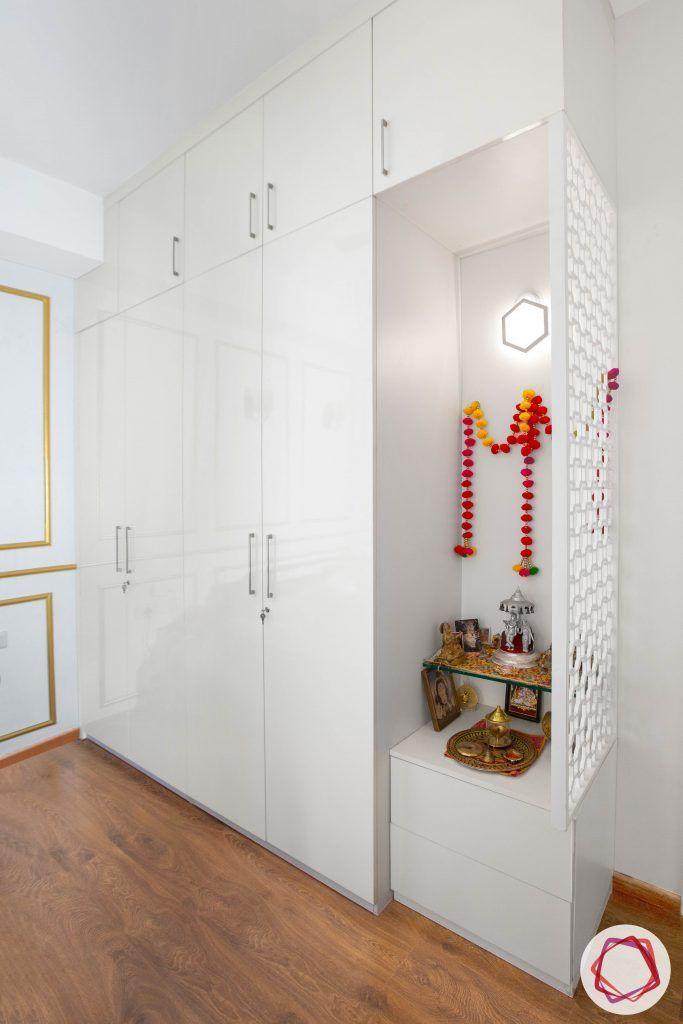 pooja room designs-white pooja rooms-pooja rooms with jaali