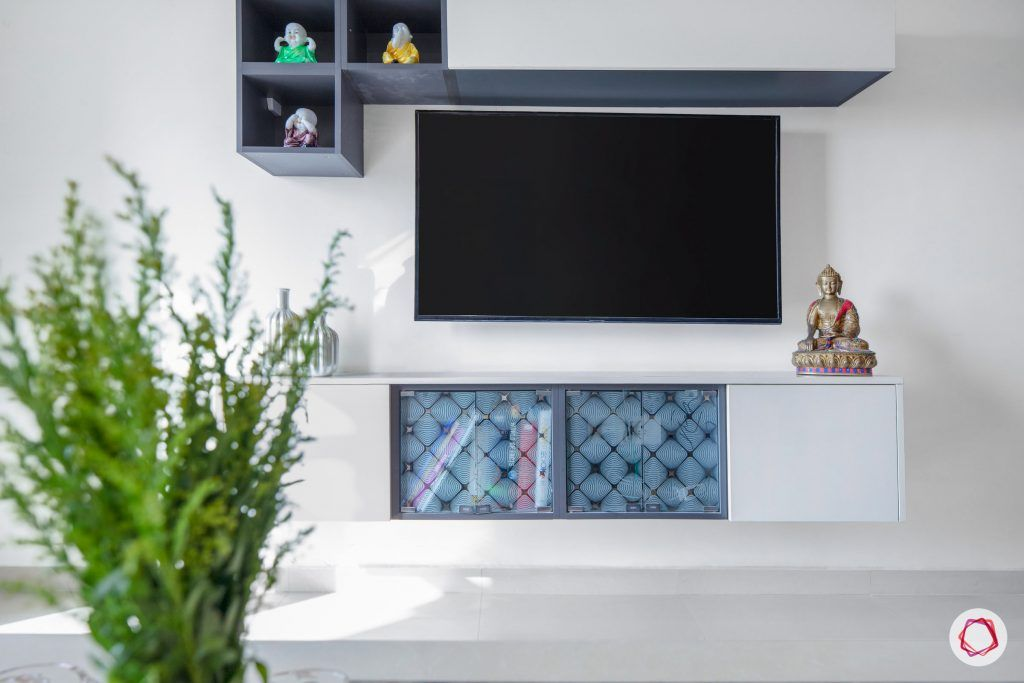 floating tv unit designs-white tv unit design