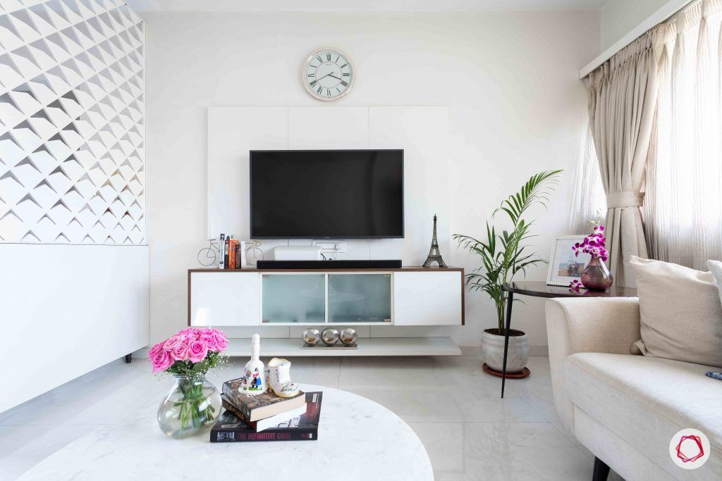 simple tv unit designs-jaali partition designs