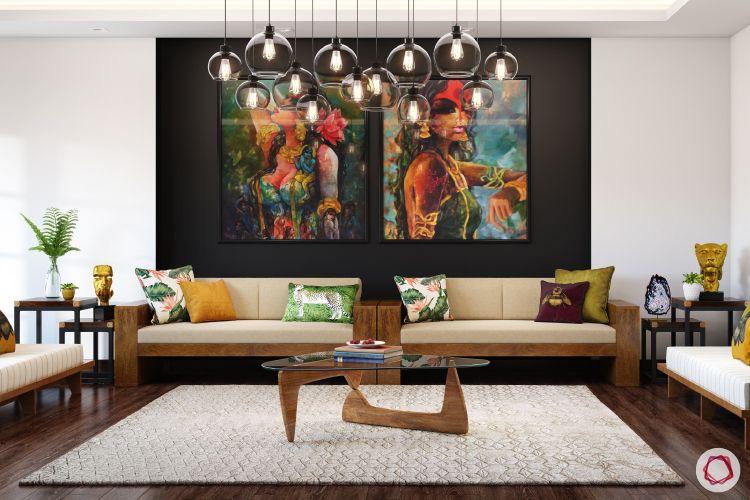 twinkle khanna interior-glass chandelier designs-modern art for home
