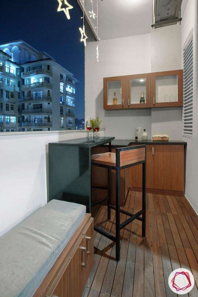 balcony seating ideas-mini bar designs-bar unit designs-bar unit for balcony