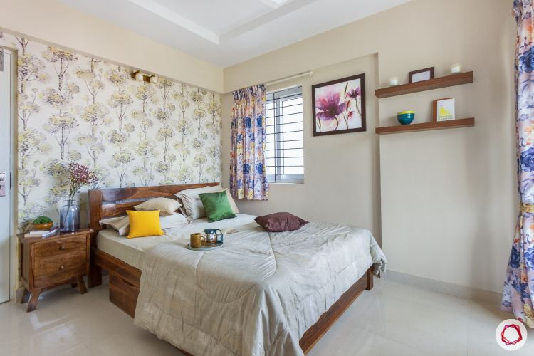 home bangalore-guest bedroom-full room design-wooden tones