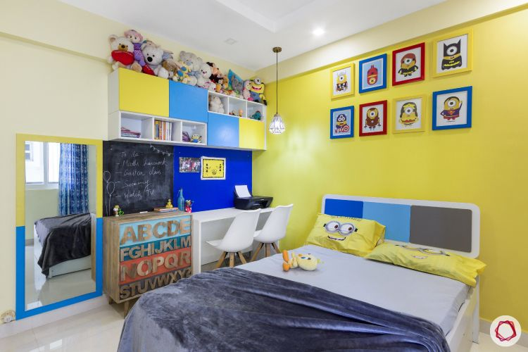 home bangalore-kids bedroom-minion theme-full room
