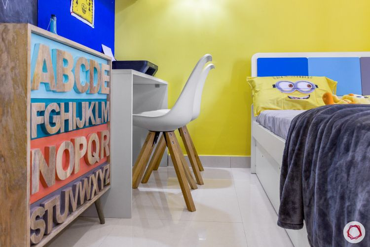 home bangalore-kids bedroom-minion theme-study chairs