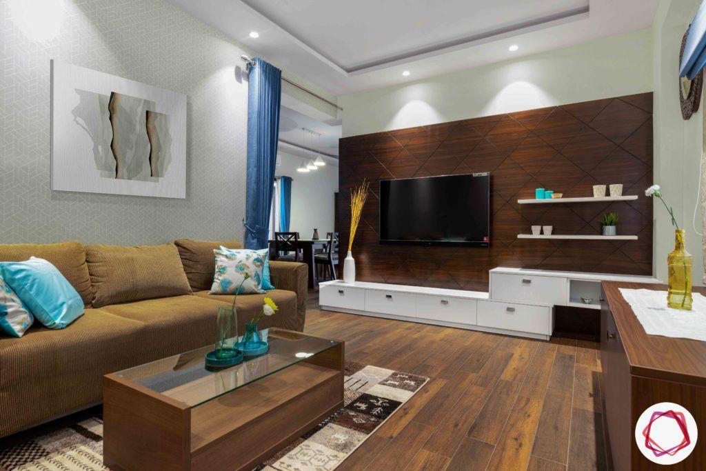 sofa designs-TV cabinet designs-grey wallpaper designs