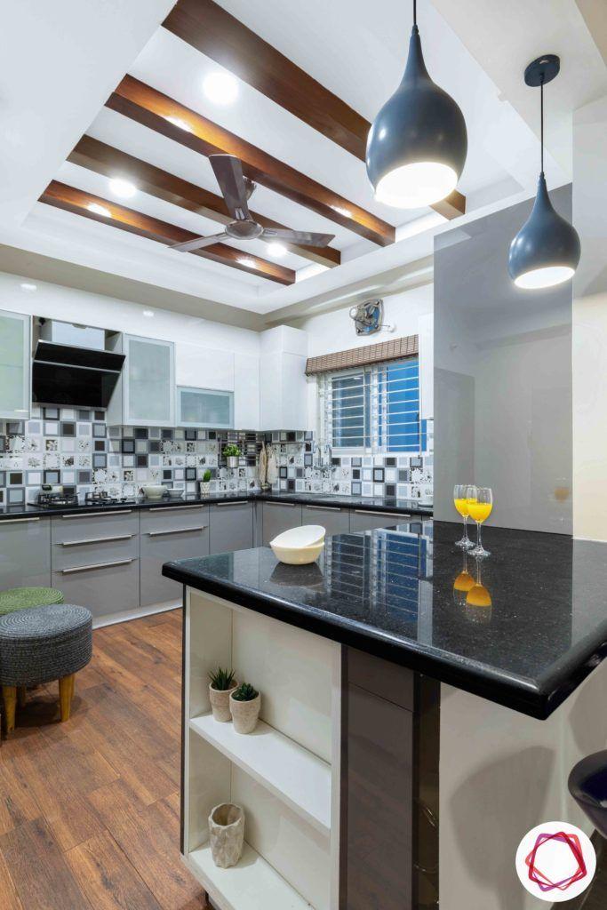 island kitchen designs-wooden flooring designs