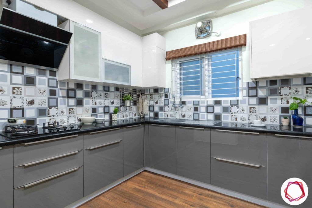 two toned kitchen-modular kitchen cabinets