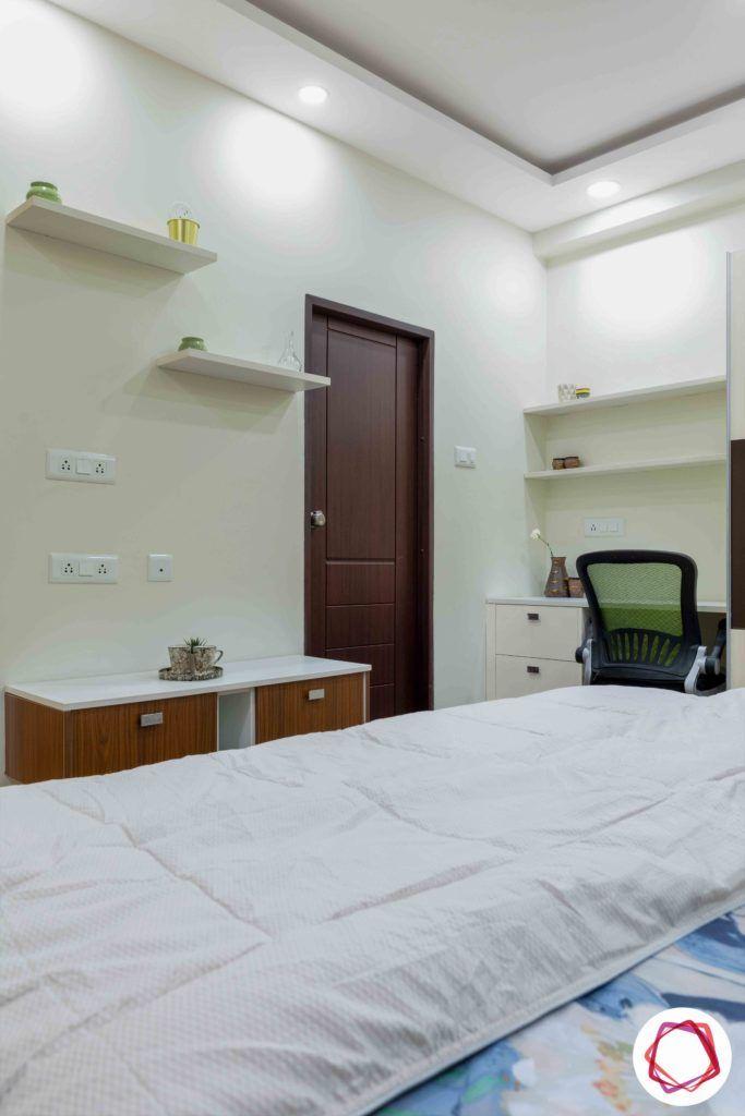 white shelf designs-bedroom layout