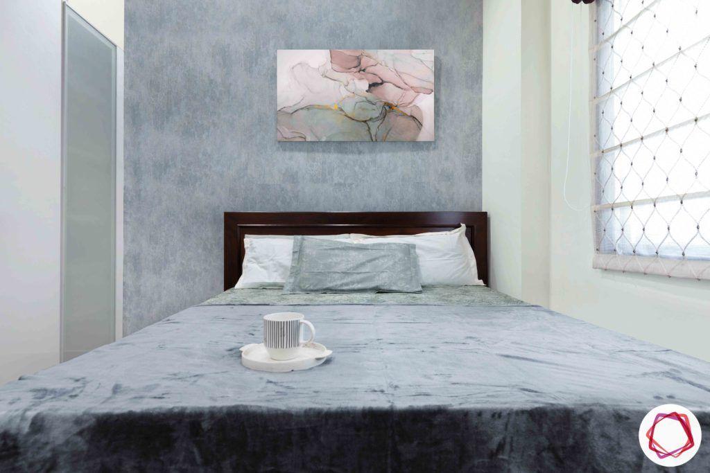 grey wallpaper designs-wooden bed designs