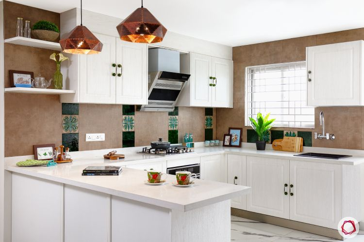 indian kitchen-white kitchen designs-open shelves for kitchen-country style kitchen