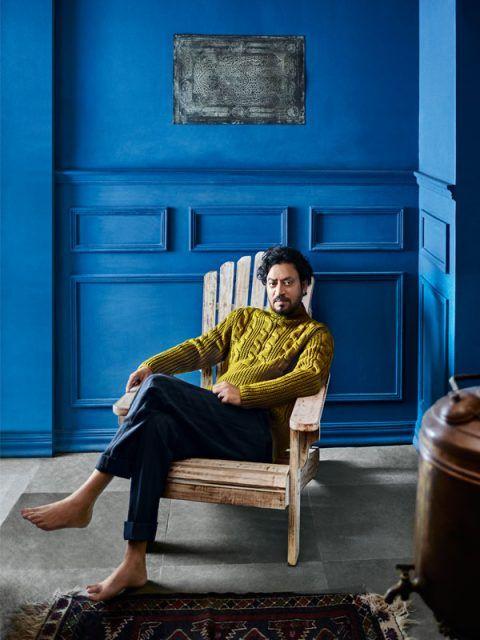 celebrity-homes-Irrfan-khan-royal-blue-foyer