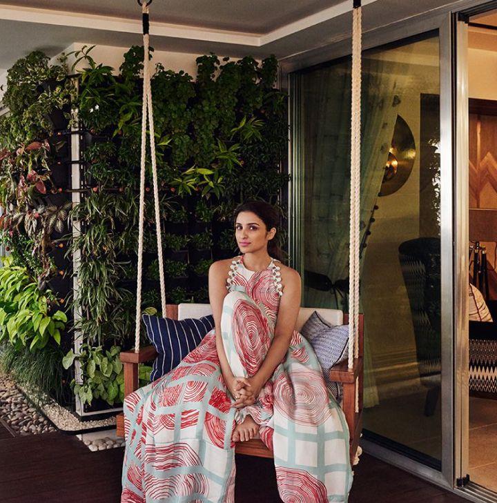 celebrity-homes-parineeti-chopra-swing-plant