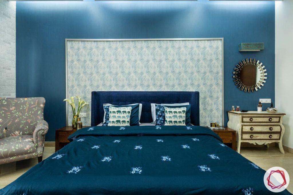 blue-wall-sheet-headboard-wallpaper-trims