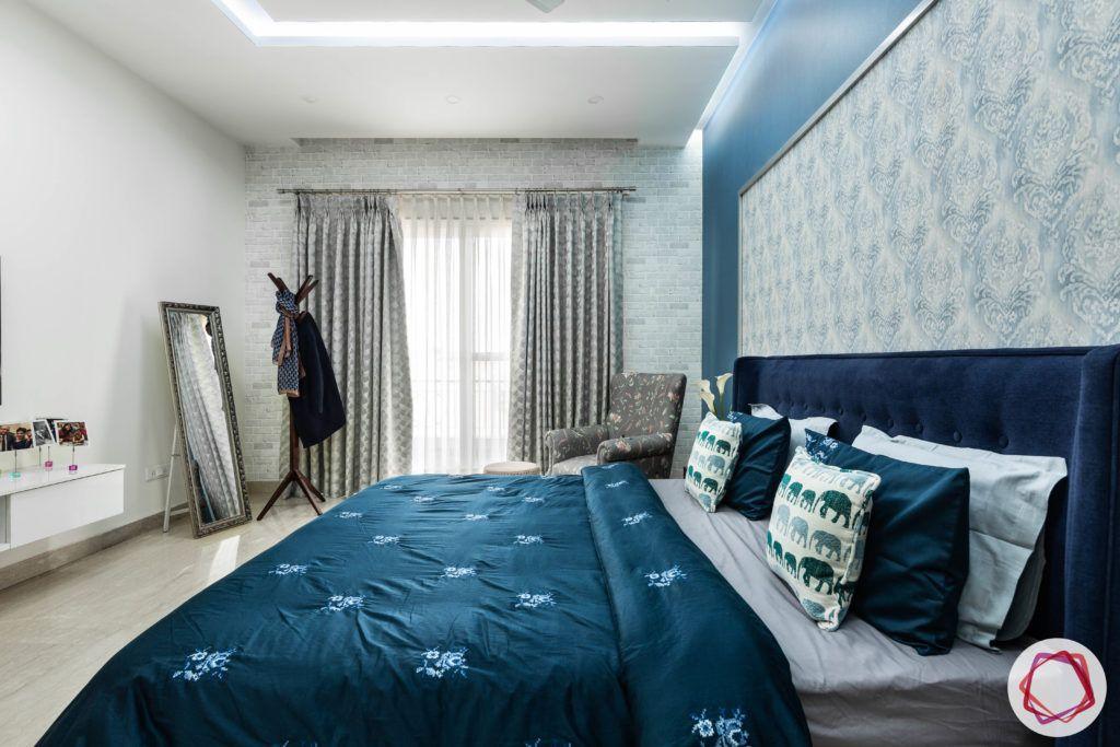 blue-bedroom-3D-brick-tiles-wallpaper-headboard