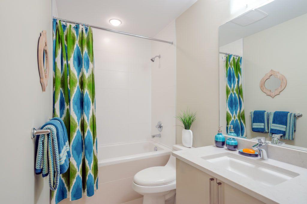 bathroom designs-shower curtains-bright shower curtain-colourful shower curtain-bathroom vanity