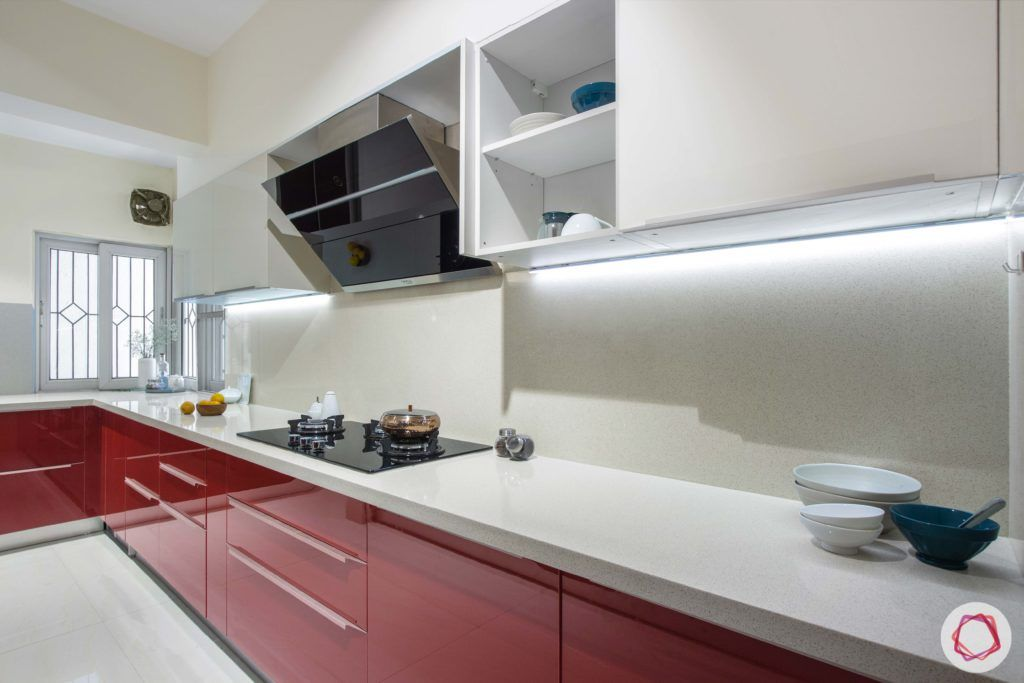 Brigade Millennium-Red-White-Kitchen-cabinets-chimney-window
