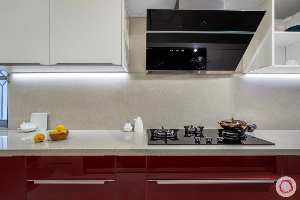 Brigade Millennium-Red-White-Kitchen-kalinga-countertop-backsplash