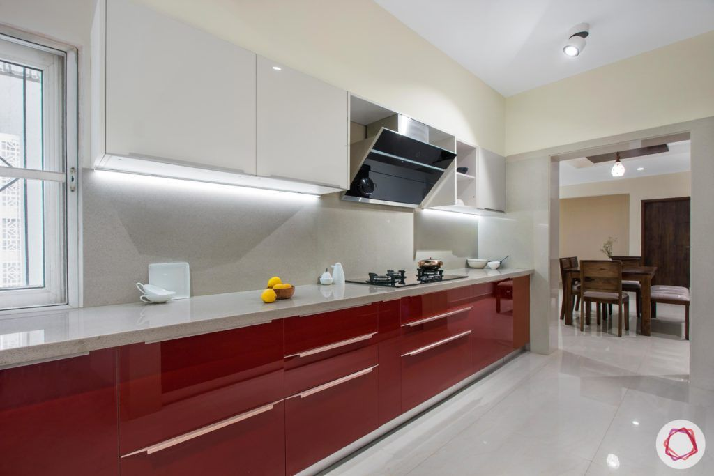 Brigade Millennium-Red-White-Kitchen-cabinets-countertop-light-floor