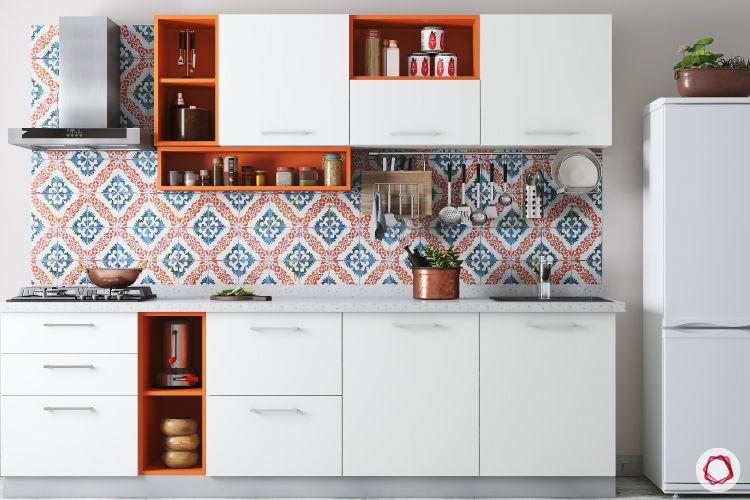 colour schemes for your kitchen-white kitchen designs-pop colour kitchen