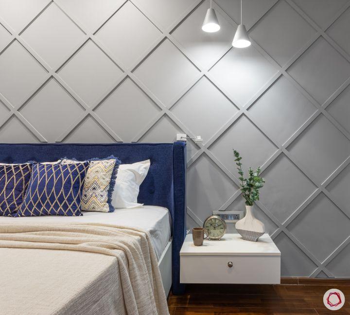 home mumbai-blue headboard designs-accent wall designs