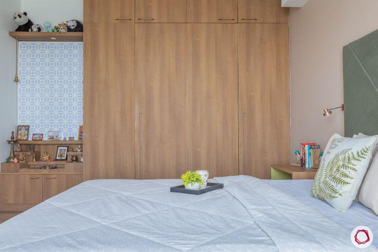 home mumbai-handleless wardrobe designs-pooja unit designs