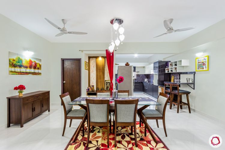 top-interior-designers-in-bangalore-dining-room-accent-light-wooden