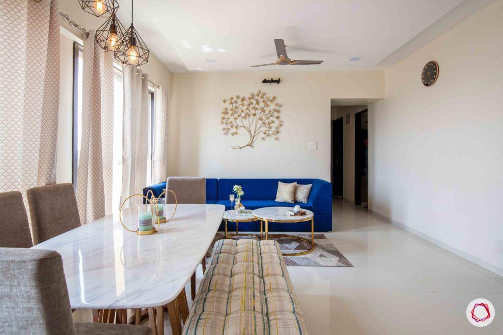 akshar elementa-dining room-marble top dining table