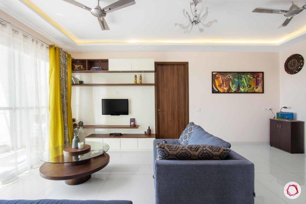 snn raj greenbay-living room-false ceiling-cove lighting