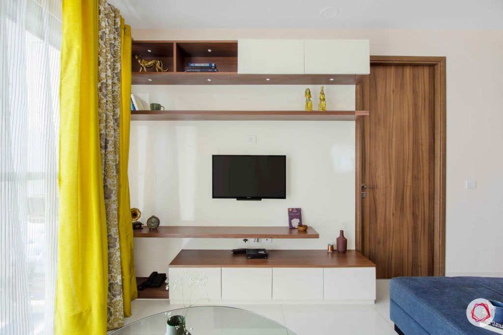 snn raj greenbay-laminate tv unit-display shelves-wall ledges