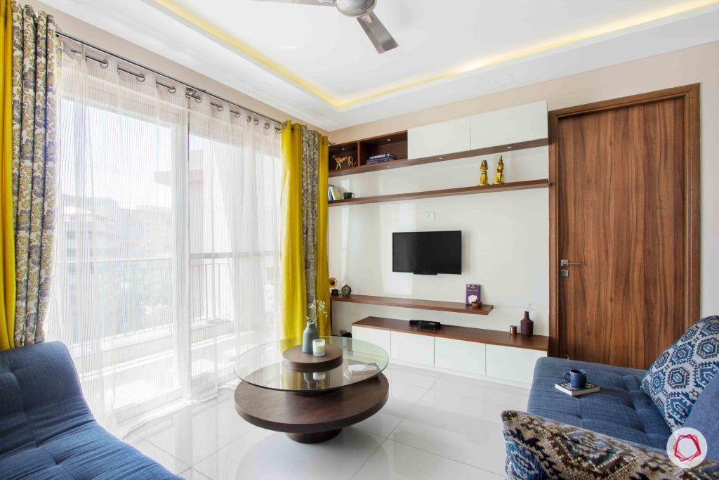 snn raj greenbay-living room-balcony-centre table-white tv unit