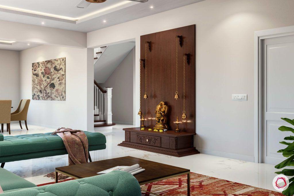 simple pooja mandir designs for walls_wooden pooja unit_open pooja unit_compact pooja