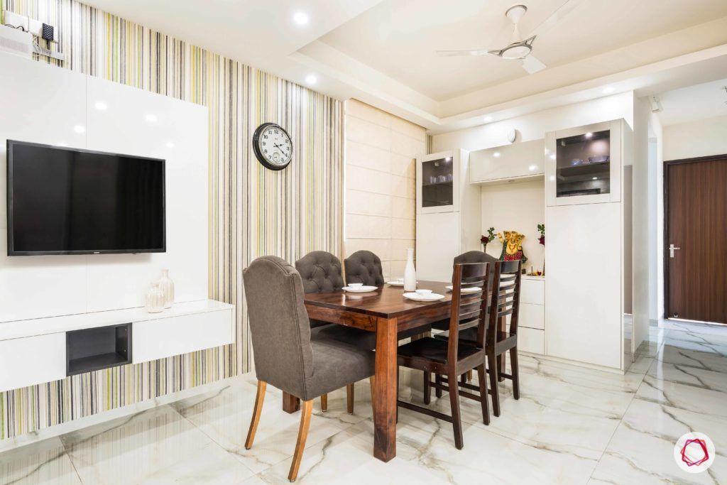 Nirala-Aspire-TV-dining-table-chairs-wallpaper-clock-pooja