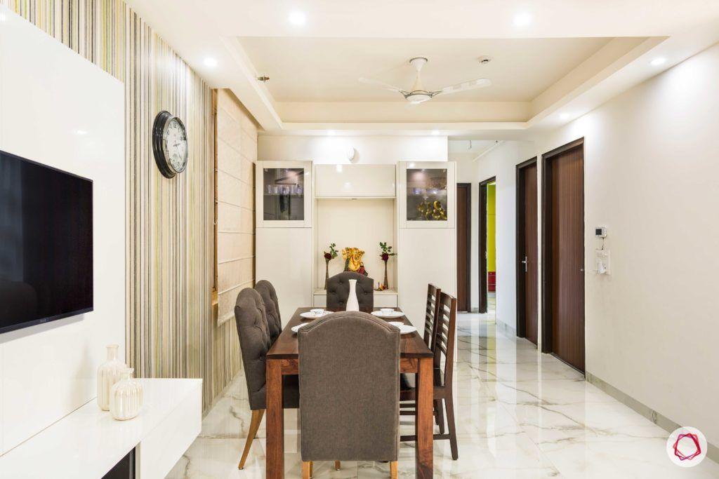 Nirala-Aspire-TV-dining-table-chairs-wallpaper-clock-pooja-crockery-unit