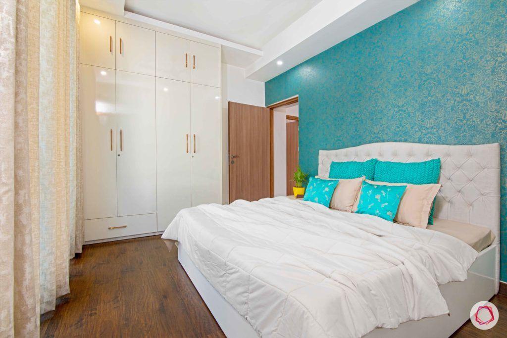 tdi ourania_guest bedroom_white bedroom_swing door wardrobe
