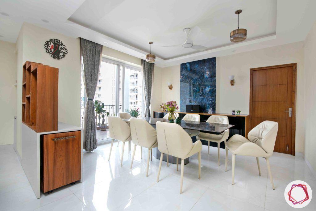 Shipra Srishti-dining-table-chairs-curtain-partition
