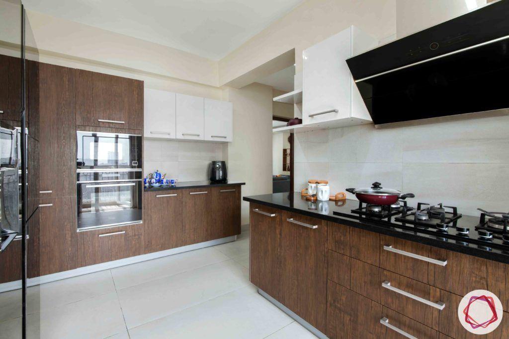 kitchen-white-brown-membrane-PU-cabinets-tall-unit