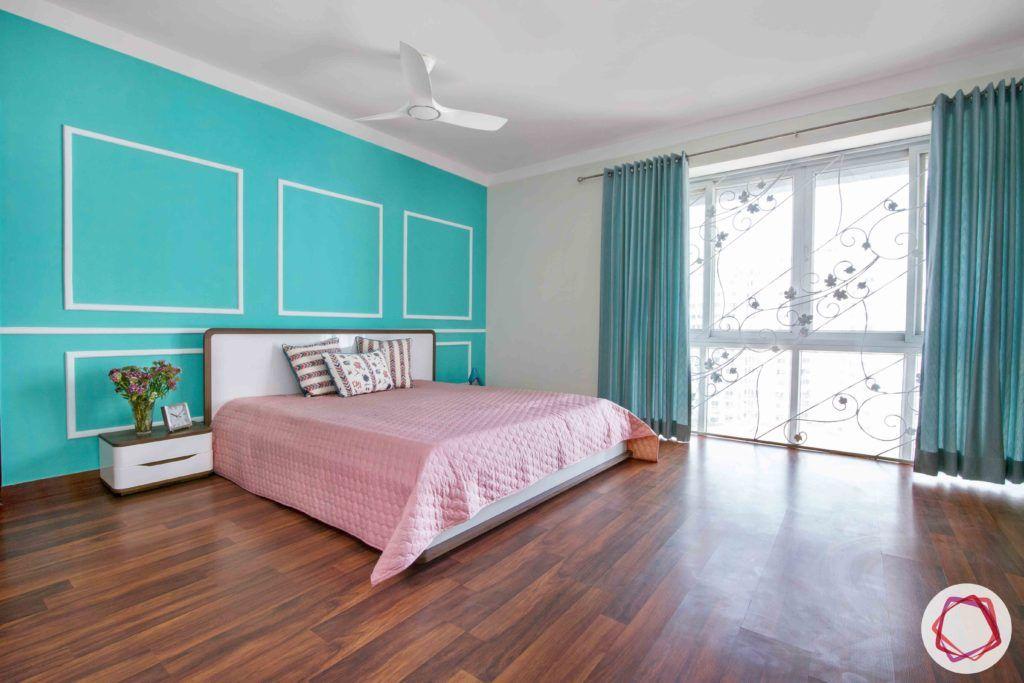 bedroom-girl-teal-wall-jali-wooden-floor