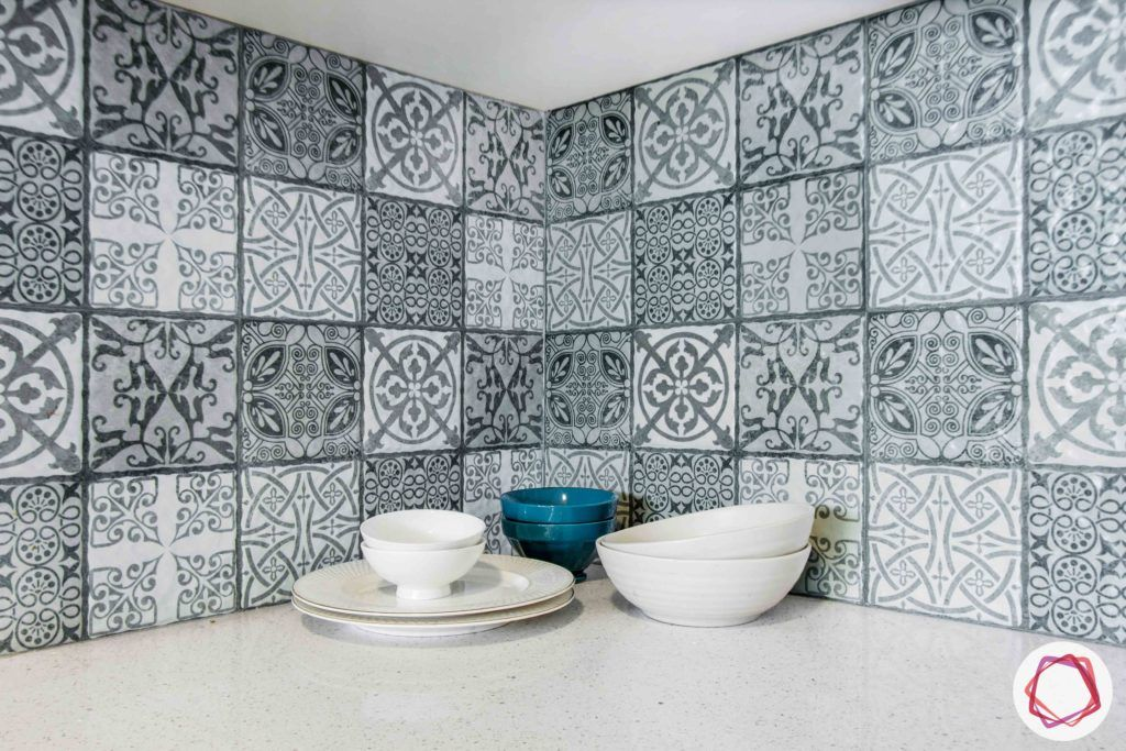 dnr atmosphere-two toned kitchen design-moroccan tiles designs