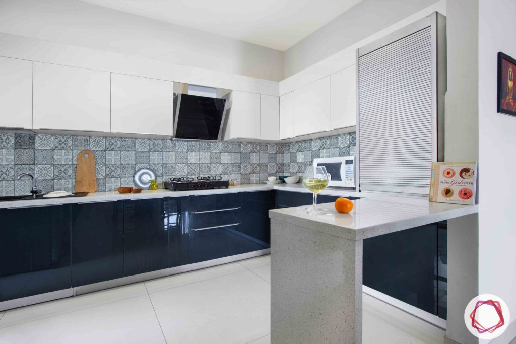 dnr atmosphere-two toned kitchen design-white breakfast counter