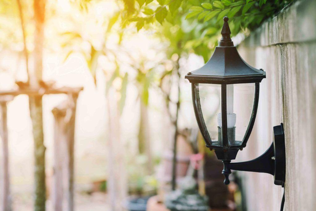 garden lights-wall lights-lamp-black lamp