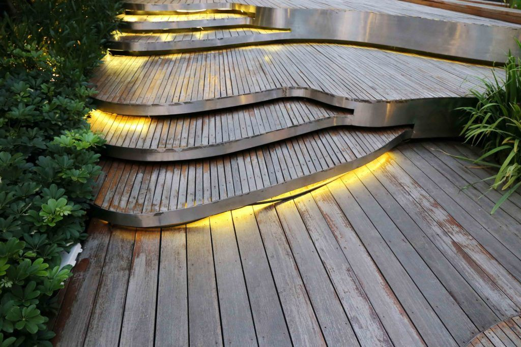 garden lights-hazard light-floor led light-wooden flooring