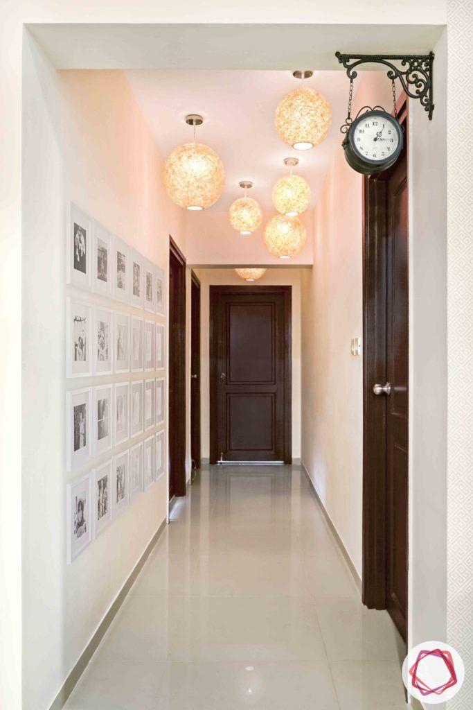passage design ideas-pendant light designs-wall moulding designs