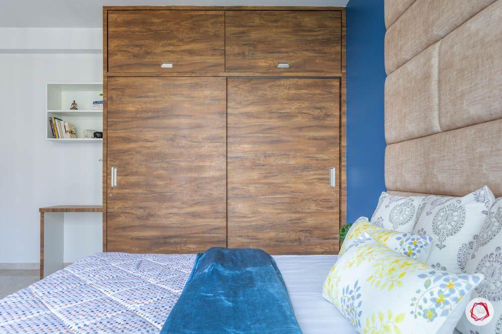 oberoi goregaon-master bedroom-wooden wardrobe-sliding door wardrobe