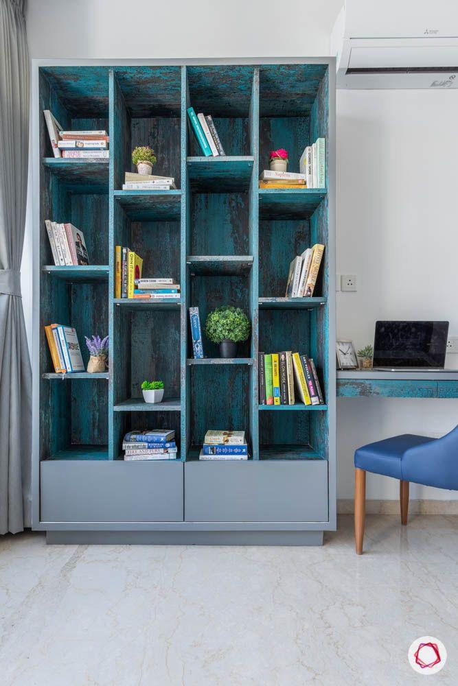 oberoi goregaon-guest bedroom-bookshelf-library-study table