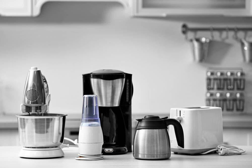 home cleaning tips-kitchen appliances-electrical appliances-mixer-kettle-toaster