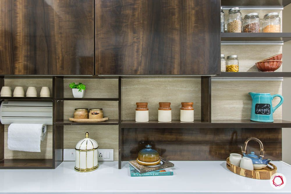 kitchen storage cabinets-open cabinet designs- open shelves designs